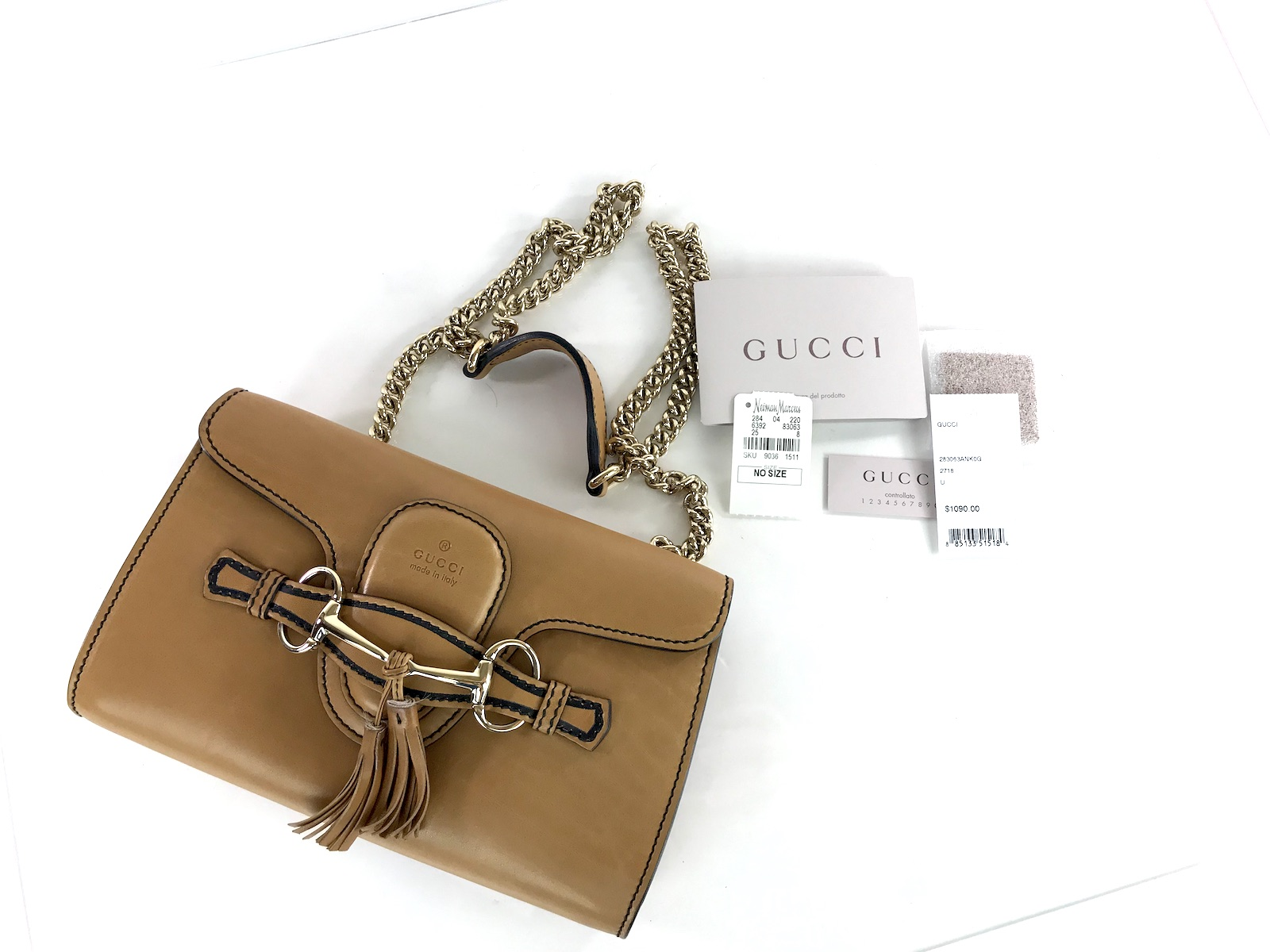f64584e73c1895 Gucci Small Emily Chain Horsebit Shoulder Bag – Fashion Reloved