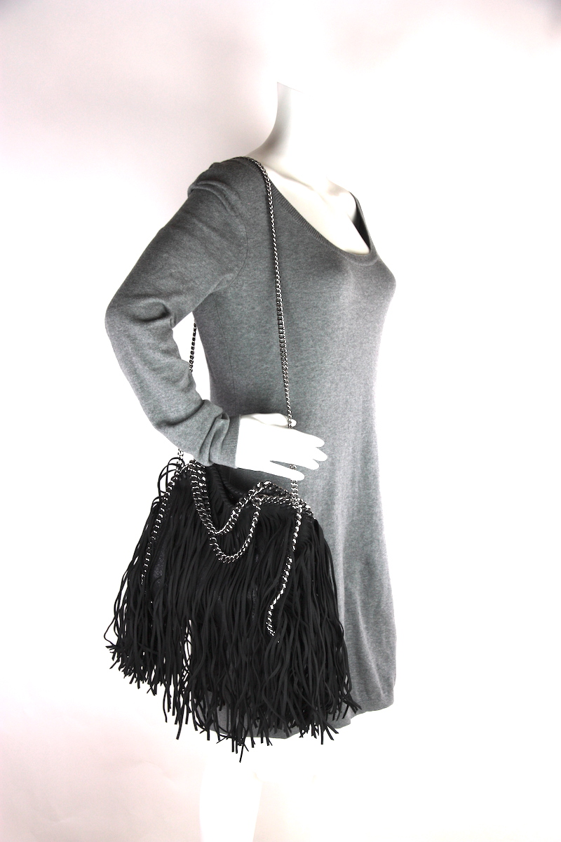 8c105aa9729d Stella McCartney Small Fringe-Accented Shaggy Deer Falabella Bag ...